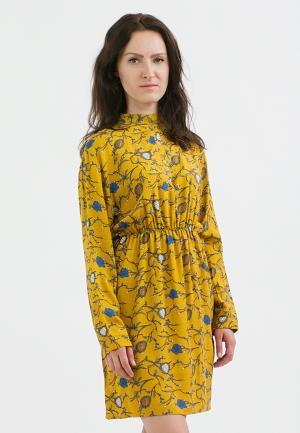 Платье Monoroom. Цвет: желтый