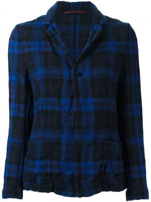 Шерстяной пиджак в клетку Daniela Gregis. Цвет: синий