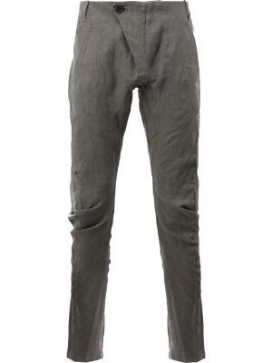 Зауженные повседневные брюки Masnada. Цвет: серый