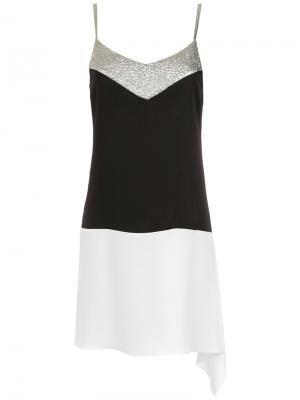 Panels short dress Gloria Coelho. Цвет: чёрный
