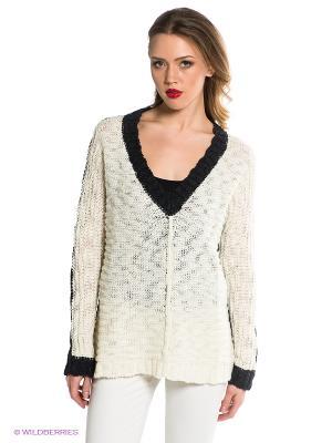 Пуловер BSB. Цвет: молочный, черный