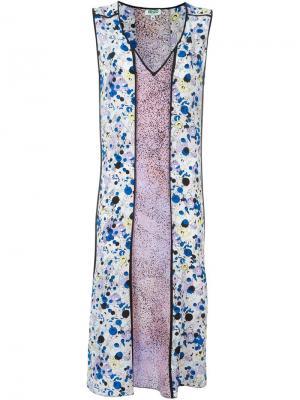 Платье Moonmap Kenzo. Цвет: розовый и фиолетовый