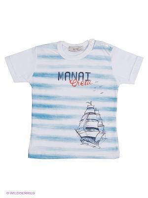 Футболка MANAI. Цвет: голубой
