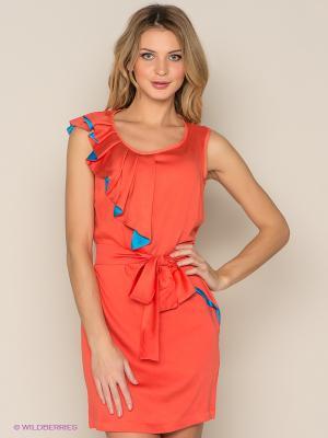 Платье Xarizmas. Цвет: коралловый, бирюзовый