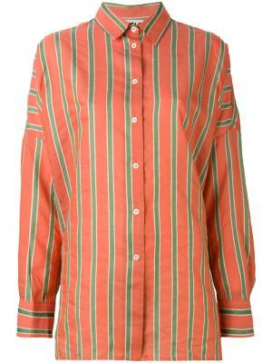 Полосатая рубашка Hache. Цвет: жёлтый и оранжевый