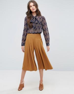 Y.A.S Кюлоты с широкими штанинами Cama. Цвет: коричневый