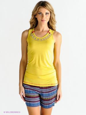Домашний костюм PENYE MOOD. Цвет: желтый, синий, красный