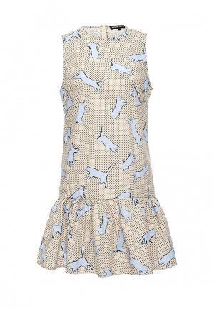 Платье Markus Lupfer. Цвет: бежевый