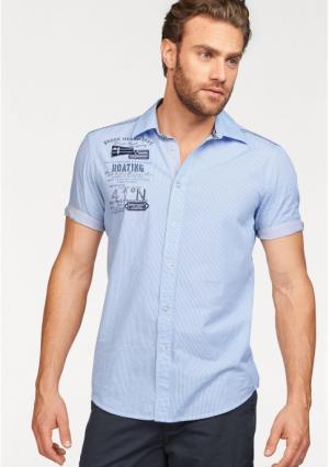 Рубашка с короткими рукавами Rhode Island. Цвет: синий/белый в полоску