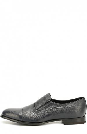 Классические кожаные туфли Barrett. Цвет: темно-синий
