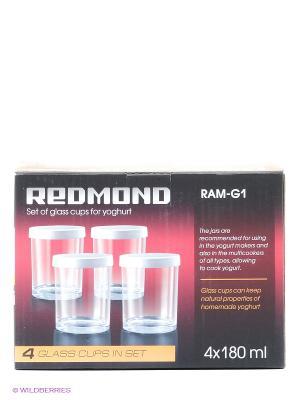 Комплект банок для йогурта Redmond RAM-G1. Цвет: прозрачный