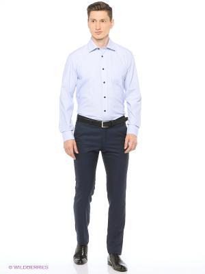 Рубашка мужская с длинным рукавом в полоску Mr. Marten. Цвет: голубой