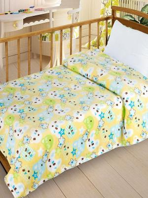 Плед  Велсофт-беби в кроватку VB09, 95х130 Letto. Цвет: желтый