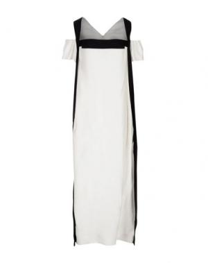 Длинное платье OBLIQUE CREATIONS. Цвет: белый