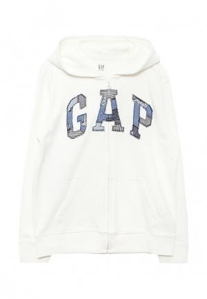 Толстовка Gap. Цвет: белый