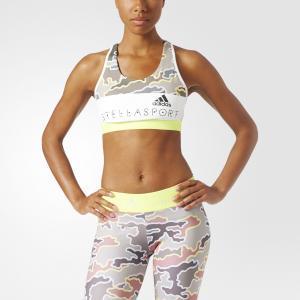 Спортивный бра-топ  STELLASPORT adidas. Цвет: желтый