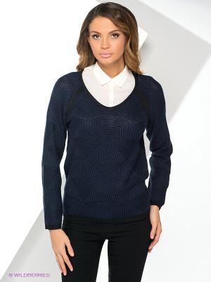 Пуловер Yuka. Цвет: темно-синий, черный