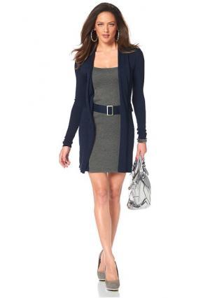 Платье MELROSE. Цвет: лиловый/черный, серый меланжевый/черный