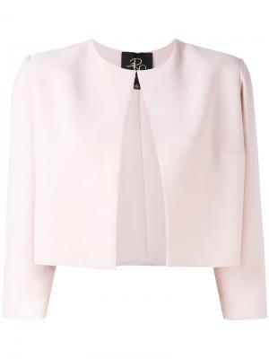 Укороченный пиджак Rhea Costa. Цвет: розовый и фиолетовый