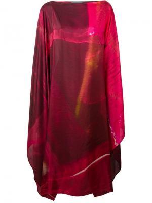 Платье-кафтан Maria Calderara. Цвет: красный