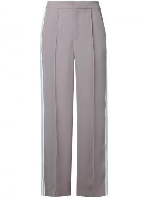 Расклешенные брюки с полосками Guild Prime. Цвет: коричневый