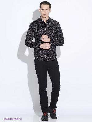 Рубашка Club21. Цвет: темно-синий, красный