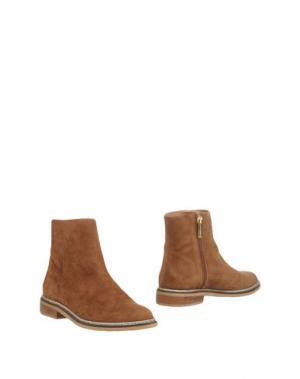 Полусапоги и высокие ботинки MARIAN. Цвет: верблюжий