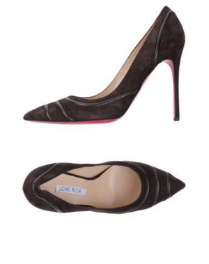 Туфли LUCIANO PADOVAN. Цвет: темно-коричневый