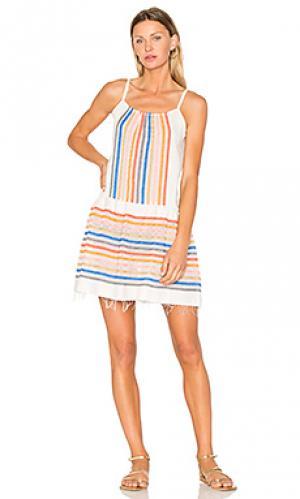 Летнее платье candace Lemlem. Цвет: ivory