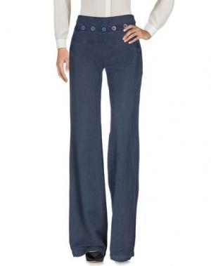 Повседневные брюки NOLITA. Цвет: грифельно-синий