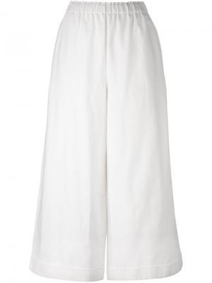 Широкие брюки с эластичным поясом Daniela Gregis. Цвет: белый