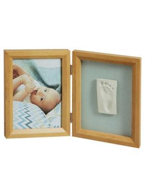 Рамочка двойная Классика; дерево Baby Art. Цвет: светло-коричневый