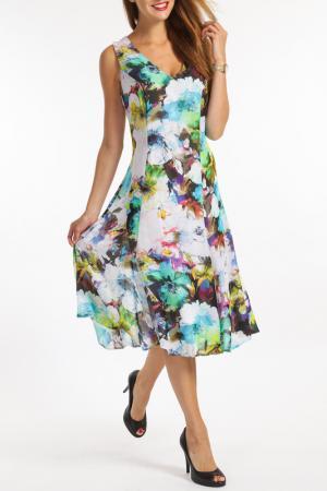 Платье TOK. Цвет: мультицвет