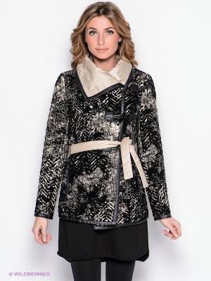 Пальто Yulia Dushina. Цвет: черный, светло-бежевый