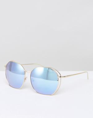 Quay Australia Большие солнцезащитные очки в стиле ретро Bae. Цвет: золотой