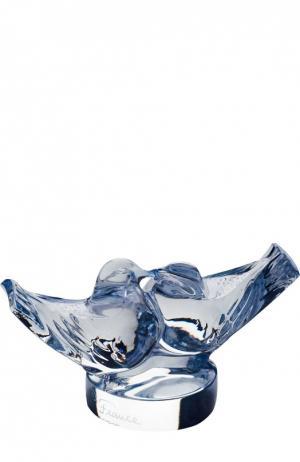 Скульптура 2 Lovebirds Lalique. Цвет: бесцветный