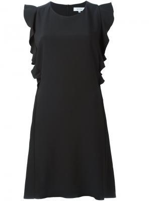 Платье с оборками Carven. Цвет: чёрный