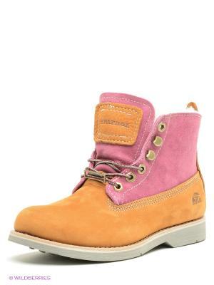 Ботинки Patrol. Цвет: коричневый, розовый
