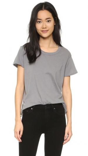 Жатая футболка с округлым вырезом Wilt. Цвет: белый