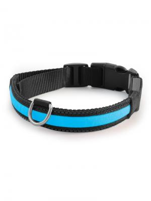 Светодиодный ошейник Комфорт синий, размер S 20x230-310мм. TRIOL. Цвет: синий