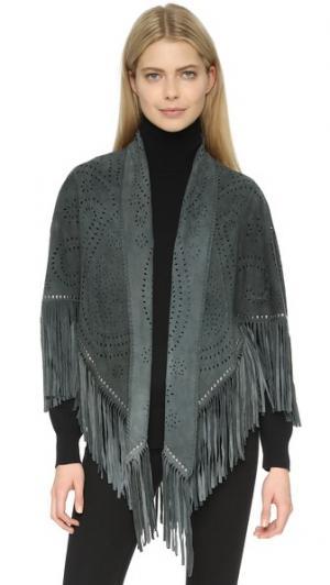 Жакет Lara с вышивкой и заклепками Treasures. Цвет: темно-серый