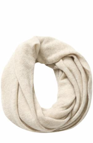 Кашемировый шарф-снуд TSUM Collection. Цвет: светло-бежевый