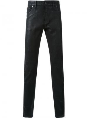 Вощеные джинсы кроя слим Hl Heddie Lovu. Цвет: чёрный