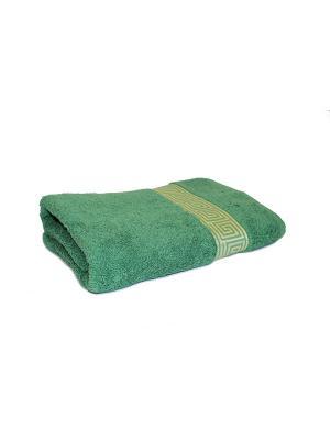 Полотенце махровое PROFFI HOME Классик, 70х140см, зеленый. Цвет: зеленый