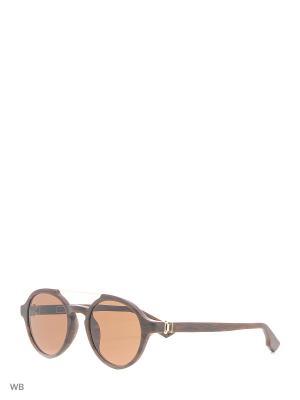Солнцезащитные очки KT 504S 05 Kiton. Цвет: коричневый, золотистый