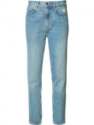Джинсы прямого кроя Mimi Mih Jeans. Цвет: синий