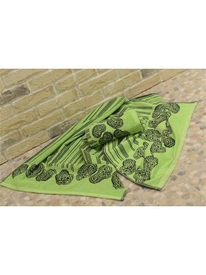 Набор махровых полотенец АКВА зеленое (50*90+70*140) TOALLA. Цвет: зеленый