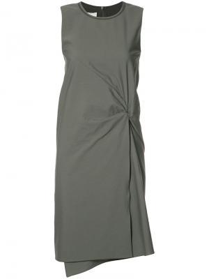 Платье с драпировкой на талии Brunello Cucinelli. Цвет: серый