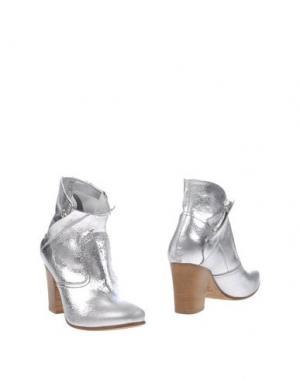 Полусапоги и высокие ботинки KALLISTÈ. Цвет: серебристый