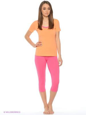 Пижама Lui et Elle. Цвет: малиновый, оранжевый
